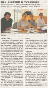 Article extrait du Ouest-France du 18/05/17